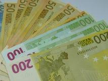 Euro bankbiljetten Royalty-vrije Stock Foto