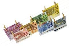 Euro bankbiljetten Stock Foto