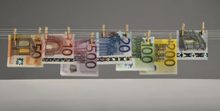 Euro bankbiljetten Stock Foto's