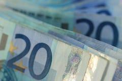 20 euro bankbiljetten Royalty-vrije Stock Afbeeldingen
