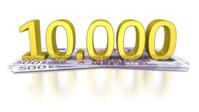 500 euro bankbiljetten royalty-vrije illustratie