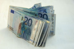 20 euro bankbiljetten Stock Afbeelding