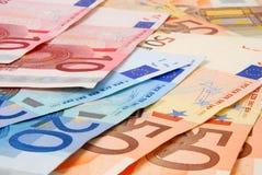 Euro bankbiljetten royalty-vrije stock foto's