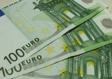 100 euro Bankbiljetten Stock Foto's