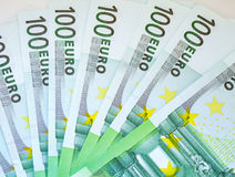 100 euro Bankbiljetten Royalty-vrije Stock Foto