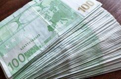 100 euro Bankbiljetten Royalty-vrije Stock Afbeeldingen