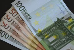 Euro bankbiljetten, geld Stock Afbeeldingen