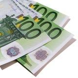 Euro 100 bankbiljetten honderd rekeningen Stock Foto