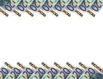 Euro bankbiljetten. Horizontale background.20. Royalty-vrije Stock Afbeeldingen