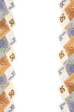 Euro bankbiljetten. Verticale achtergrond. Royalty-vrije Stock Afbeelding