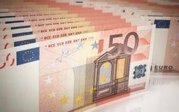 Euro bankbiljetten Vijftig vector illustratie