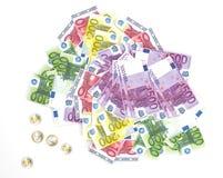 Euro bankbiljetten - wettig betaalmiddel van de Europese Unie Stock Afbeeldingen
