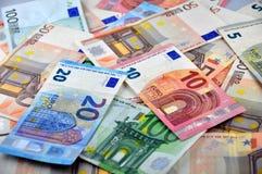 Euro bankbiljettenachtergrond Stock Foto
