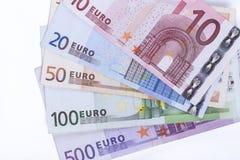 Euro Bankbiljettenclose-up Stock Foto's