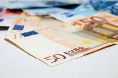 Euro bankbiljettengeld Royalty-vrije Stock Afbeeldingen
