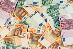 Euro bankbiljettenstapel Royalty-vrije Stock Afbeelding