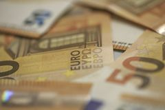 50 euro banknotów Fotografia Royalty Free