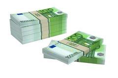 100 Euro banknotów Fotografia Royalty Free