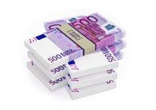 500 Euro banknotów Zdjęcia Stock