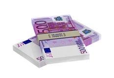 500 Euro banknotów Obrazy Royalty Free