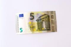5 euro banknotów Obraz Stock
