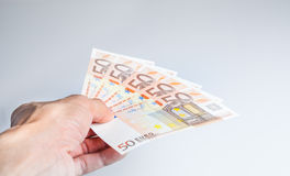Euro banknot Obrazy Royalty Free