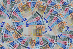 Euro banknote. 10, 20 and 50 Euro banknote background Stock Image