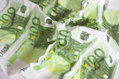 Euro banknote. Tissue with euro banknote printed pattern Stock Photo