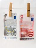 Euro of a banknote Stock Photography