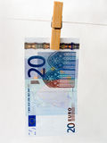 Euro of a banknote Stock Images