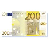 Euro banknote. 200 euro banknote vector illustration isolated over white background stock illustration
