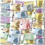 Euro banknote background. Background of neatly arranged Euro banknotes Stock Image