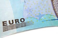 Euro banknote close-up macro Royalty Free Stock Image