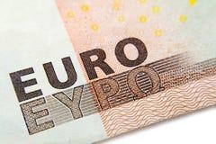 Euro banknote close-up macro Royalty Free Stock Photo