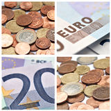 Euro  banknote  collage Stock Photo