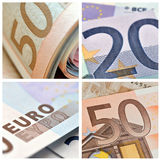 Euro  banknote  collage Royalty Free Stock Photography