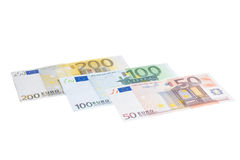 Euro banknote collection Royalty Free Stock Image