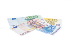 Euro banknote collection Royalty Free Stock Photography