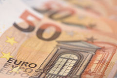 Euro banknote and currency of Europe Royalty Free Stock Image