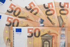 Euro banknote and currency of Europe Royalty Free Stock Images