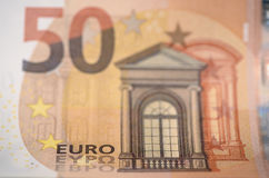 Euro banknote and currency of Europe Stock Image