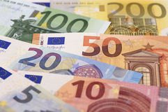 Euro banknote and currency of Europe Stock Photo
