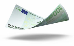 100 Euro banknote. 3d render Hundred euro banknotes close-up vector illustration