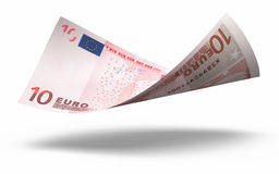 10 Euro Banknote. 3d render Ten euro banknotes close-up (isolated on white and clipping path Royalty Free Illustration
