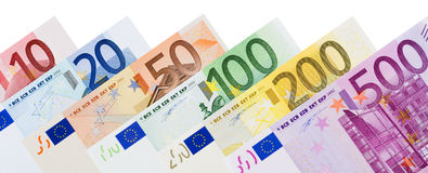 Euro banknote frame Stock Image