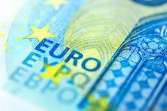 Euro Banknote in a macro shot. Twenty Euro Banknote in a macro shot Stock Photos