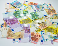 Euro banknote money  finance concept cash on white background Royalty Free Stock Photo
