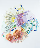Euro banknote money  finance concept cash on white background Stock Image