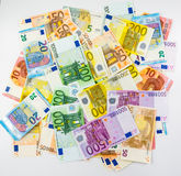 Euro banknote money  finance concept cash on white background Royalty Free Stock Images