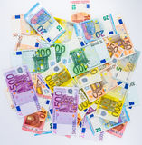 Euro banknote money  finance concept cash on white background Royalty Free Stock Photography